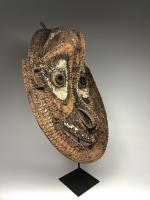 Фронтонная маска церемониального дома, регион среднего течения реки Сепик_4