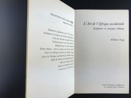Книга «L'art De L'afrique Occidentale Sculptures Et Masques Tribaux»_1