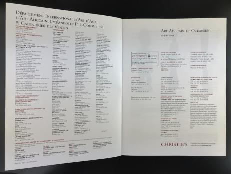 Каталог аукциона «Christie's/Paris/Art Africain et Océanien/Mardi 10 juin 2008»